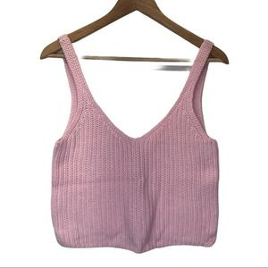 American Apparel knit cropped tank top pink - XS
